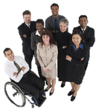 Group Business People No background